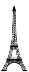 Eiffel tower vector outline silhouette