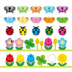 昆虫と草花