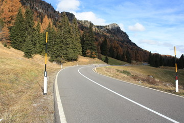 Road on the Dolomiti mountains (Italy)