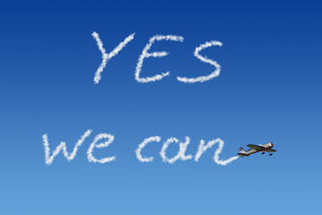 yes we can Himmelsschreiber