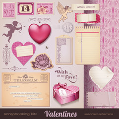 scrapbooking kit: Valentines