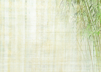 Chinese background with bamboo texture