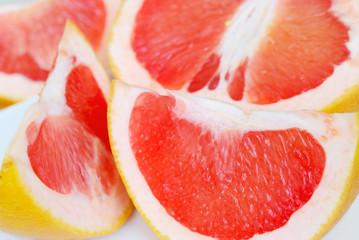 Close-up of fresh grapefruit