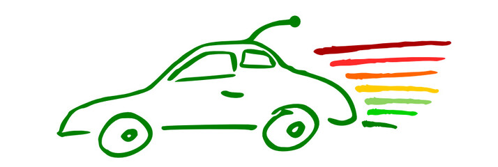 Auto Zeichnung Energieverbrauch