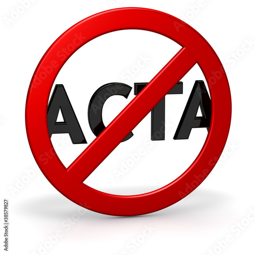 ACTA Kritik und Opposition SYMBOL
