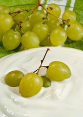 Weintrauben Joghurt