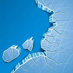 Cracked Ice Background