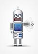 Robot Android Illustration Rocket