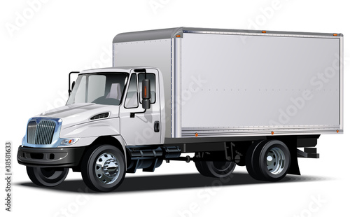 Vector delivery / cargo truck. One click repaint