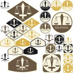 Bilancia e spada come simboli di Giustizia