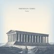 Engraving vintage Parthenon temple.