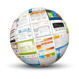 Webdesign, Kugel, 3D, Vorlage, Template, Homepage, Internet, Web