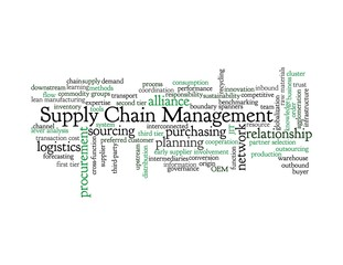 Supply Chain Management - blue & black