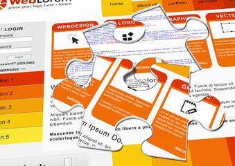 Webdesign, Puzzle, Template, Vorlage, Quellcode, Design, www, 3D