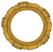 circle gold frame