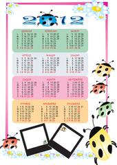 Calendario con coccinelle 2012
