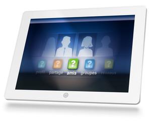 tablette reseaux sociaux