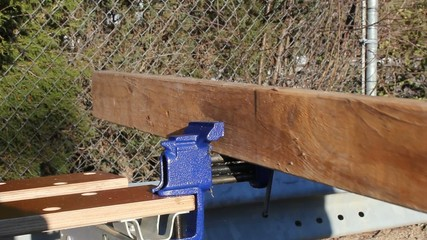 Pushing Board On Vise Letting Go