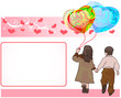 couple holding love balloon