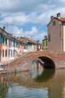 Sisti Bridge. Comacchio. Emilia-Romagna. Italy.