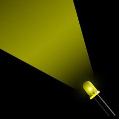 fascio led giallo