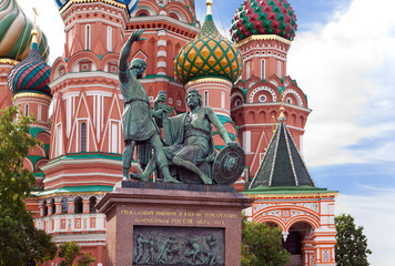 Vasily Blazhennogo cathedral . Moscow. Russia...