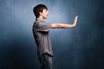 gesturing stop