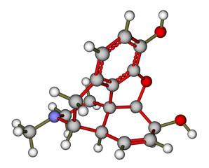 Morphine molecular structure