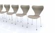 Designer Stuhlreihe - Beige