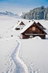 Hütten in den österreichischen Alpen