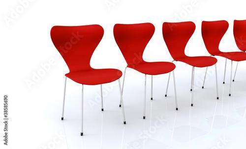Designer Stuhlreihe - Rot
