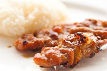 grilled pork Thai food style