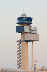 Tower of International Airport Düsseldorf, Germany