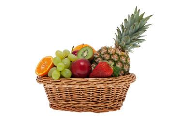 Obstkorb freigestellt