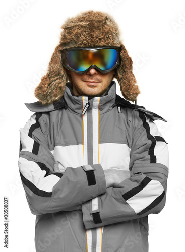 Man in ski goggles and sportswear