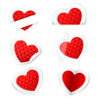 Paper Heart Sticker