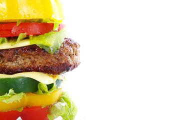 Gemüse Burger, quer mit Textfreiraum