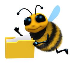 3d Bee investigates a folder