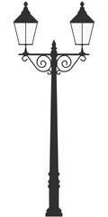 street lamp light vector outline silhouette