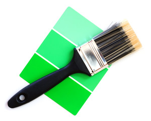 green color swatch with paintbrush