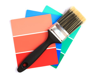 paint swatches with paintbrush