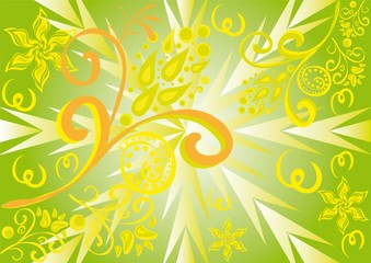 Abstract floral ornament. vector Illustration.