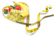 Heart tape measure with fruit