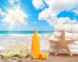 Sunscreen With Beach Towels