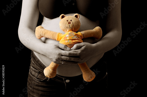 canvas print picture Babybauch