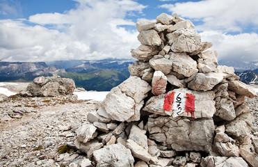 Steinmann Markierung Wanderweg