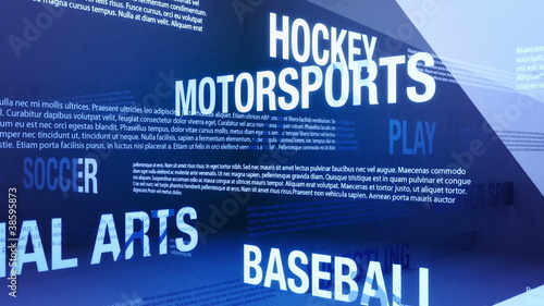 Sports Background Seamless Loop