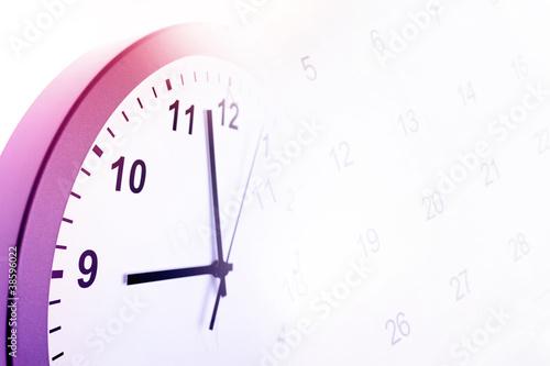 Clock and calendar - 38596022