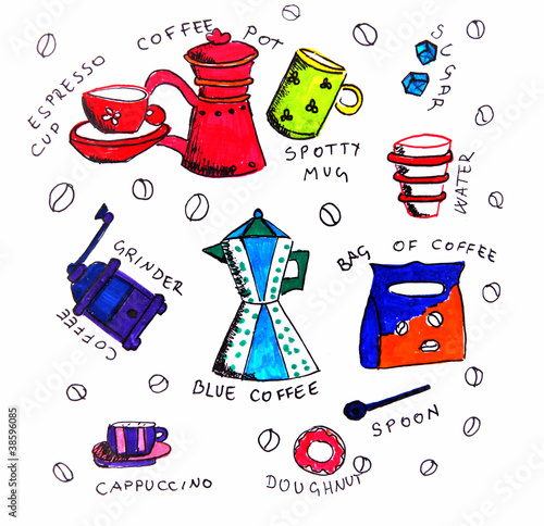 Illustration coffee elements