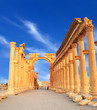 Ancient Roman time town in Palmyra, Syria.